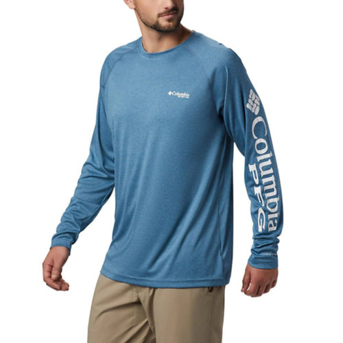 Mouse over to zoom an area or click here for Hi-Res image of Columbia PFG Terminal Tackle Heather Long Sleeve Shirt Men's