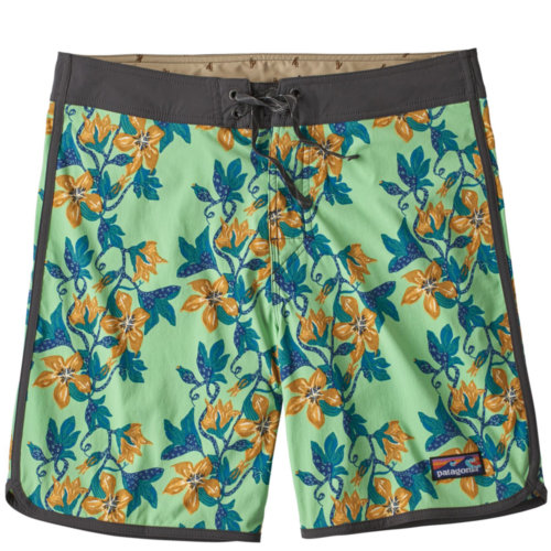 "Mouse over to zoom an area or click here for Hi-Res image of Patagonia Scallop Hem Stretch Wavefarer Board Shorts 18"" Mens"