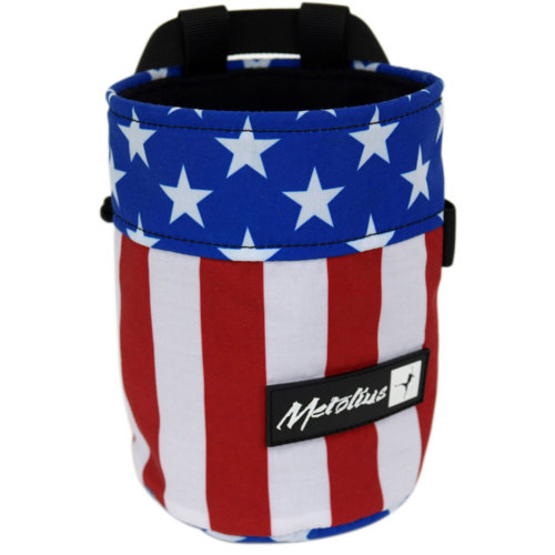 Mouse over to zoom an area or click here for Hi-Res image of Metolius Uncle Sam Competition Chalk Bag