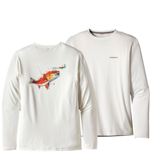 Patagonia Graphic Tech Fish Tee Mens Closeout