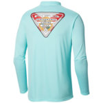 Columbia Terminal Tackle PFG State Triangle Flag Long Sleeve Shirt  Mens