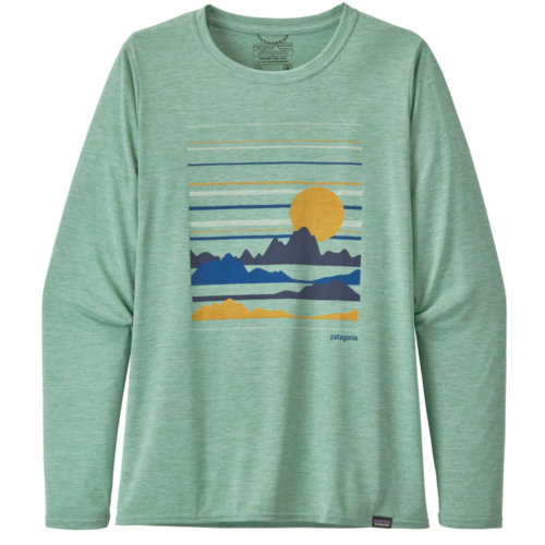 Mouse over to zoom an area or click here for Hi-Res image of Patagonia Capilene Cool Daily Graphic Shirt Long Sleeve Women's