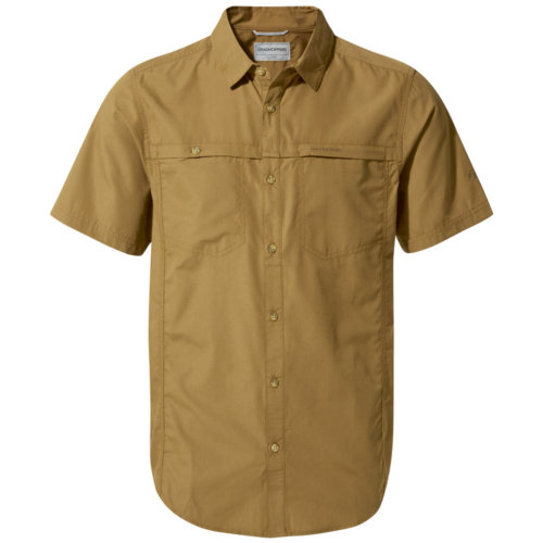 Mouse over to zoom an area or click here for Hi-Res image of CragHoppers Kiwi Trek Short Sleeve Shirt Men's Closeout
