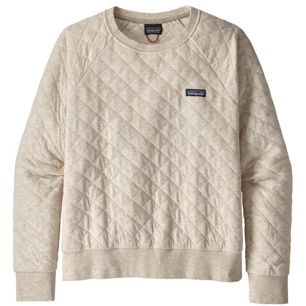 Patagonia Organic Cotton Quilt Crewneck Sweatshirt Women S