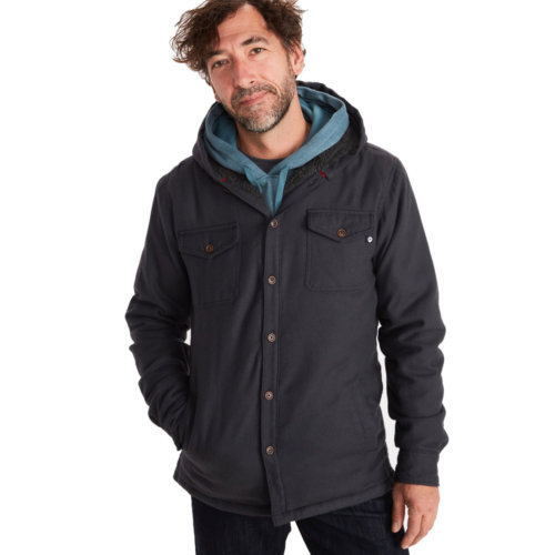 Mouse over to zoom an area or click here for Hi-Res image of Marmot Ridgefield Sherpa-Lined Flannel Hoody Men's