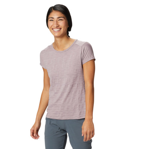 Mouse over to zoom an area or click here for Hi-Res image of Mountain Hardwear Mighty Stripe Short Sleeve Tee Women's Closeout