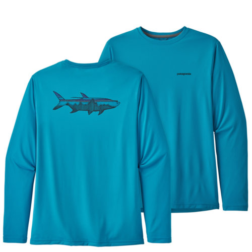 Mouse over to zoom an area or click here for Hi-Res image of Patagonia Capilene Cool Daily Fish Graphic Shirt Long Sleeve Men's