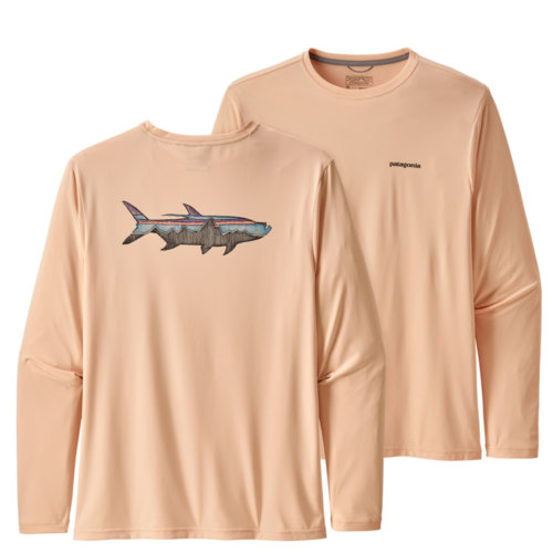 Mouse over to zoom an area or click here for Hi-Res image of Patagonia Capilene Cool Daily Fish Graphic Shirt Long Sleeve Men's Closeout