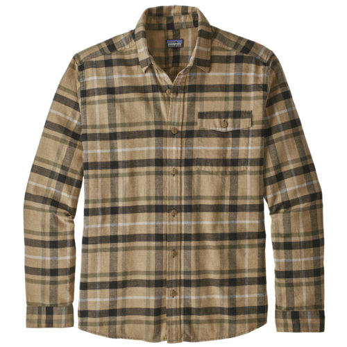 Patagonia Lightweight Fjord Flannel Shirt Long  Sleeve Mens