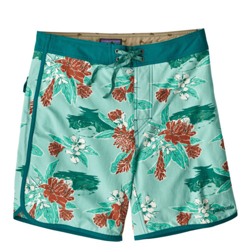 "Mouse over to zoom an area or click here for Hi-Res image of Patagonia Scallop Hem Stretch Wavefarer Board Shorts 18"" Mens Closeout"