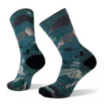 Smartwool PhD Outdoor Light Mountain Camo Print Hiking Crew Socks Men's