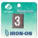 Girl Scouts Brownie Iron-On Numbers